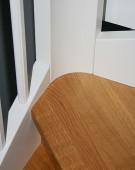 Lukket S-trætrappe med hovedstykker