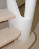 Kvartsvingstrappe i ask med Assens snegl