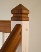 Halvsvingstrappe med dobbelt klodstrin og Assens-snegl