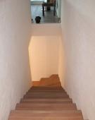 Opsadlet trappe i keruing