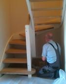 montering af trappe hos kunde