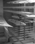 trappe dele til tørre i malerkabine