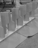 prøvesamling af hemsetrappe med kotelettrin