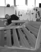 Trappe i produktion på værkstedet ved Mariager